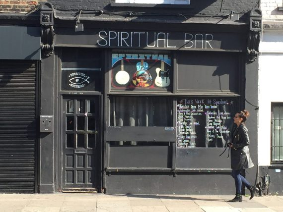 walking past Spiritual Bar