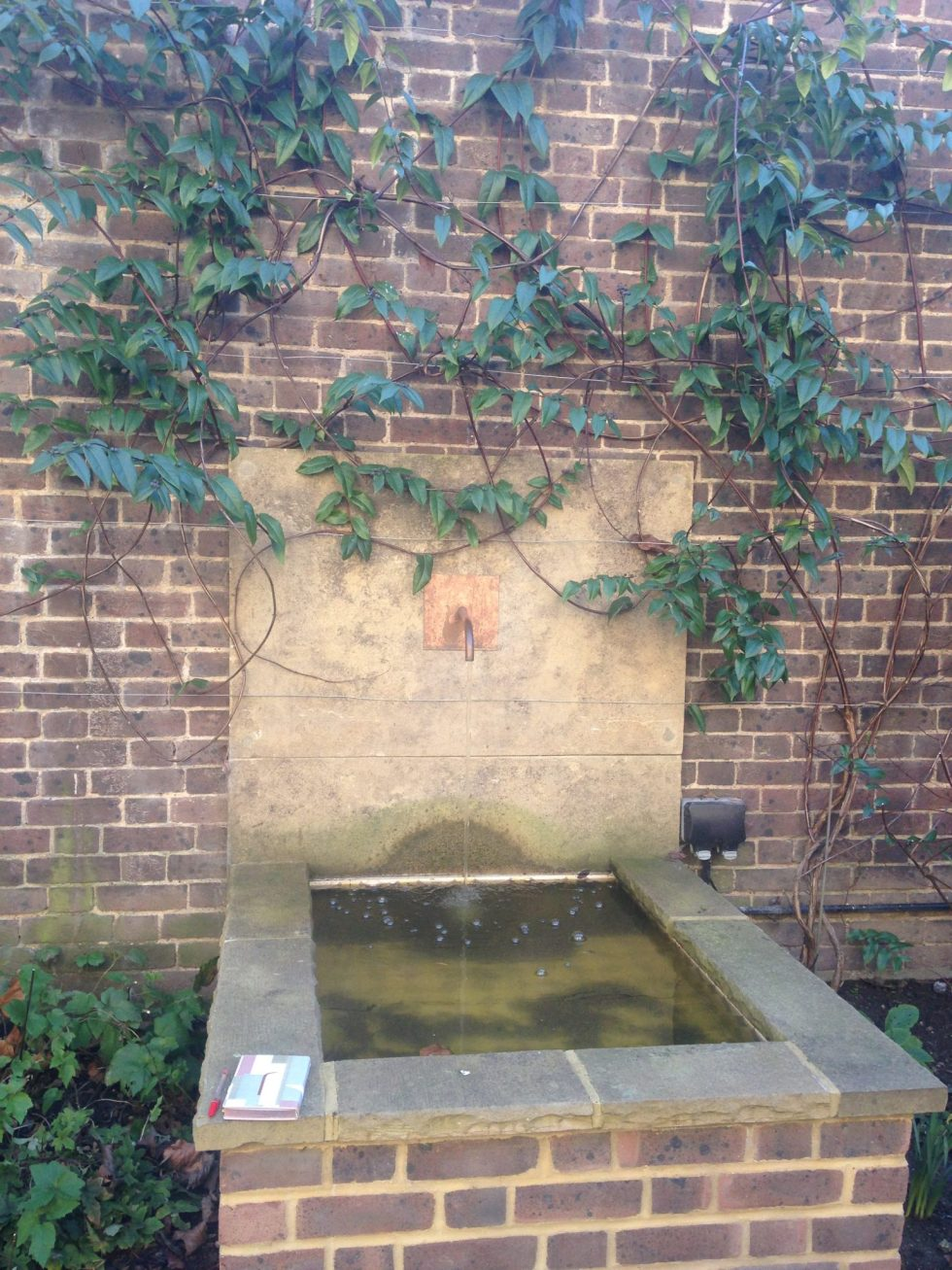 pic of water tap feature garden