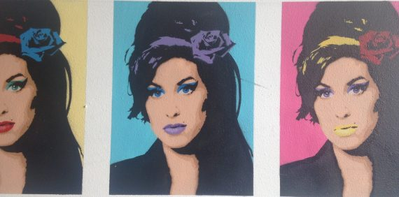 mural of Amy Winehouse