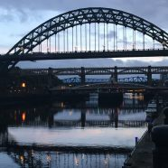 The Magnificent Tyne Bridge, view at night.