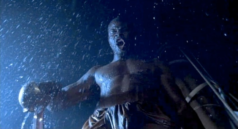 Djimon Hounsou stars as the slave Cinque in the true story AMISTAD (1997)
