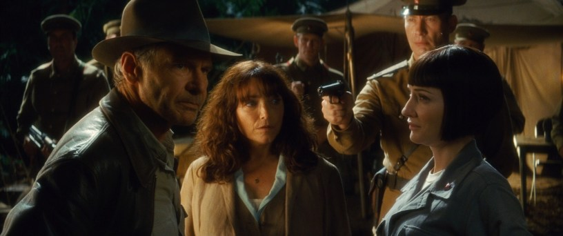 Harrison Ford and Karen Allen return, joined by Cate Blanchett, in INDIANA JONES AND THE KINGDOM OF THE CRYSTAL SKULL (2008)