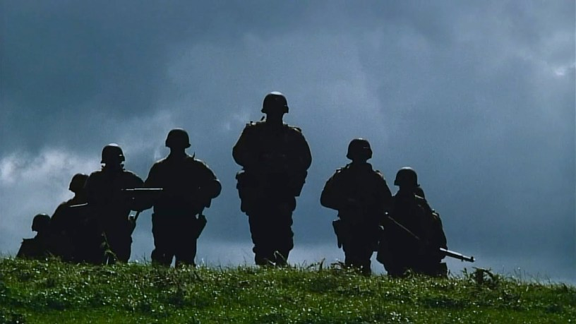 Tom Hanks leads the ensemble cast of Steven Spielberg's WWII epic SAVING PRIVATE RYAN (1998)