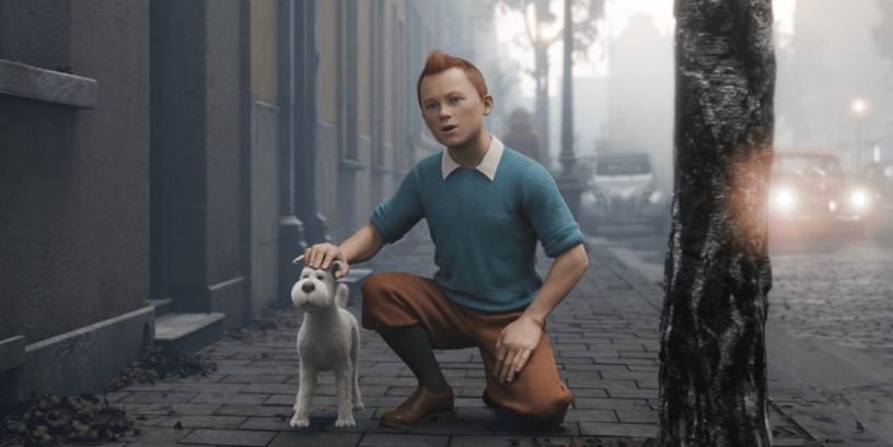 Jamie Bell stars as the voice of Tintin in Steven Spielberg's THE ADVENTURES OF TINTIN (2011)