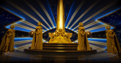 Ayesha's Throne in GUARDIANS OF THE GALAXY, VOL. 2