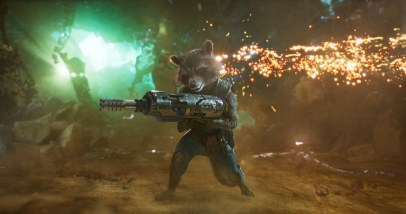 Bradley Cooper as the voice of Rocket in GUARDIANS OF THE GALAXY, VOL. 2