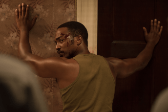 Anthony Mackie co-stars in DETROIT.