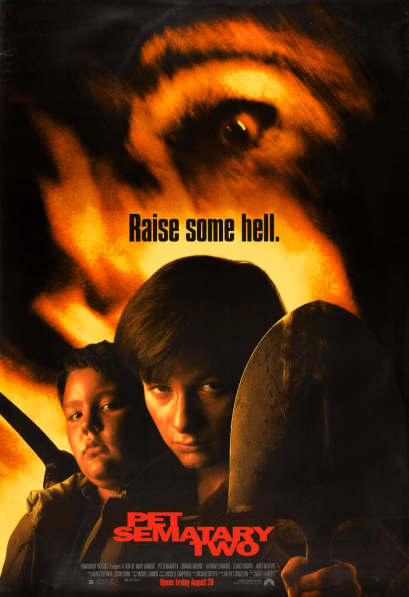 August 28, 1992: PET SEMATARY TWO - $17 million total box office gross