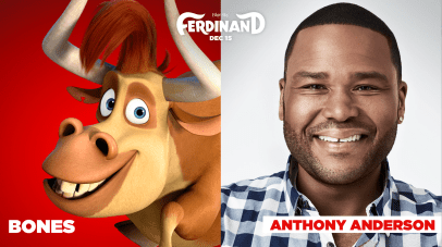 Anthony Anderson is the voice of Bones in FERDINAND.