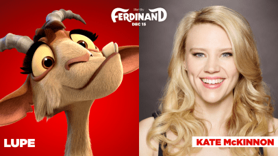 Kate McKinnon is the voice of Lupe in FERDINAND.