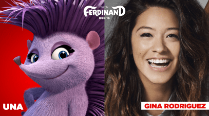 Gina Rodriguez is the voice of Una in FERDINAND.