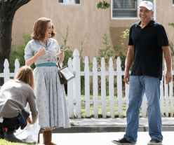 Julianne Moore and George Clooney on set of SUBURBICON.