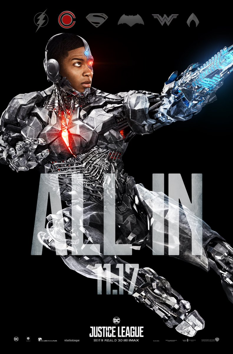 Cyborg One Sheet Poster for JUSTICE LEAGUE.