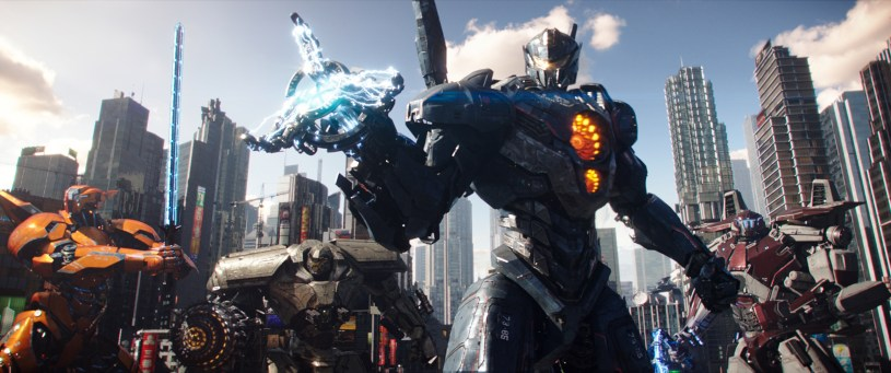 Jaegars assemble in PACIFIC RIM: UPRISING.