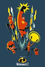 INCREDIBLES 2 Pop Art One Sheet