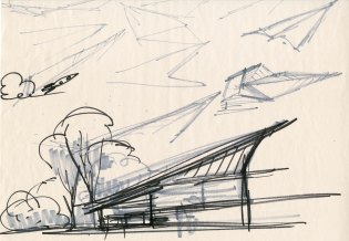 Parr Home Concept sketch by Ralph Eggleston. ©2018 Disney•Pixar. All Rights Reserved.