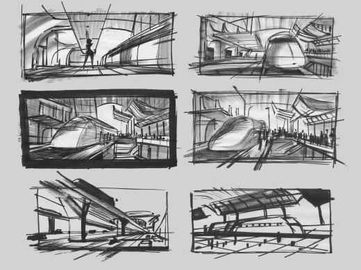 Train Station Concept art by Dean Kelly. ©2018 Disney•Pixar. All Rights Reserved.
