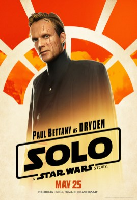 Paul Bettany as Dryden in SOLO: A STAR WARS STORY.