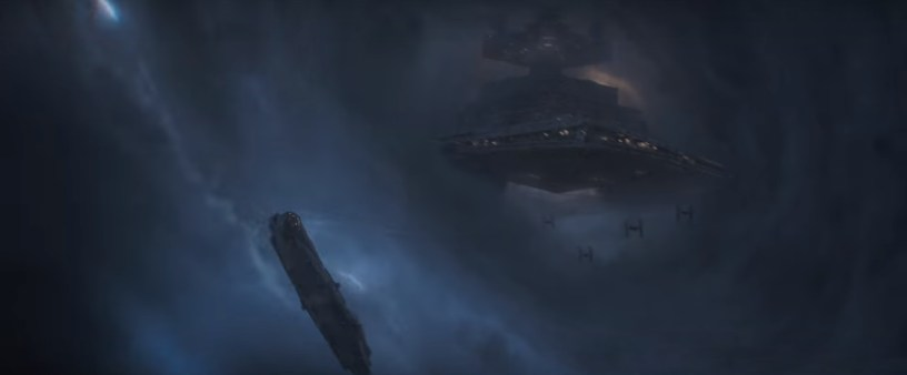 The Empire pursues The Millennium Falcon in SOLO: A STAR WARS STORY
