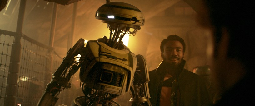 Phoebe Waller-Bridge and Donald Glover in SOLO: A STAR WARS STORY
