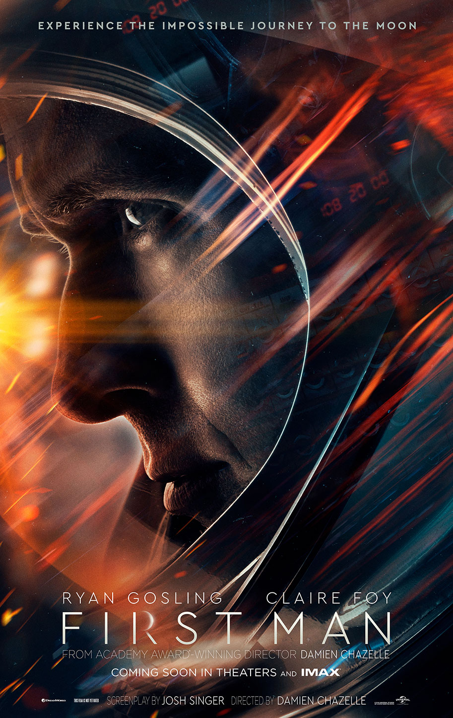 One Sheet poster for FIRST MAN, starring Ryan Gosling