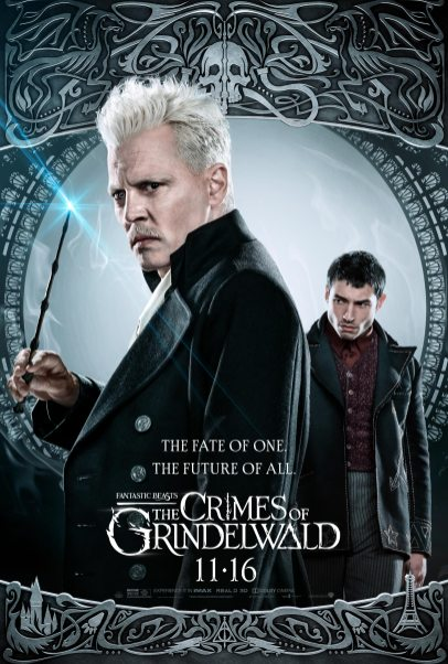 Johnny Depp as Gellert Grindelwald and Ezra Miller as Credence Barebone in FANTASTIC BEASTS: THE CRIMES OF GRINDELWALD (2018)