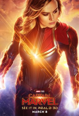 """Captain Marvel """"Real 3D"""" One Sheet (2019)"""