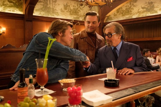 Brad Pitt, Leonardo DiCaprio, and Al Pacino star in ONCE UPON A TIME IN HOLLYWOOD (2019)