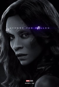 Zoe Saldana is Gamora in (?) AVENGERS: ENDGAME (2019)