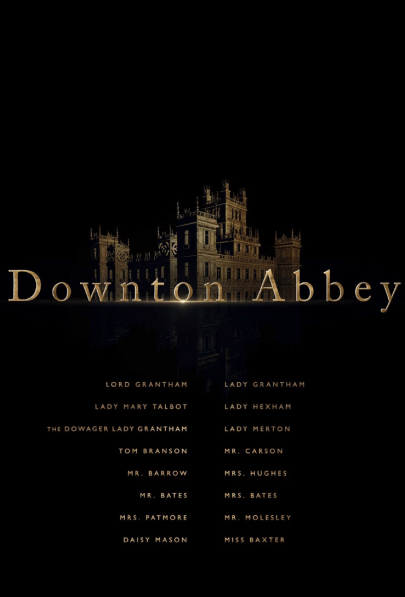 Character List Poster for DOWNTON ABBEY (2019)