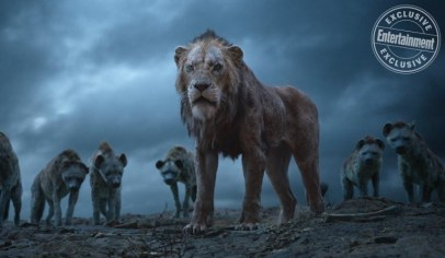 THE LION KING Florence Kasumba, Eric André and Keegan-Michael Key as the hyenas, and Chiwetal Ejiofor as Scar