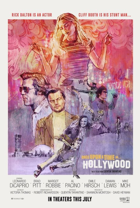 Retro Poster for Quentin Tarantino's ONCE UPON A TIME IN HOLLYWOOD (2019)