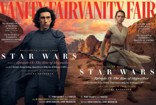Vanity Fair cover spread for STAR WARS: THE RISE OF SKYWALKER (2019)