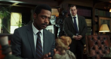 LaKeith Stanfield co-stars in the murder mystery KNIVES OUT (2019)