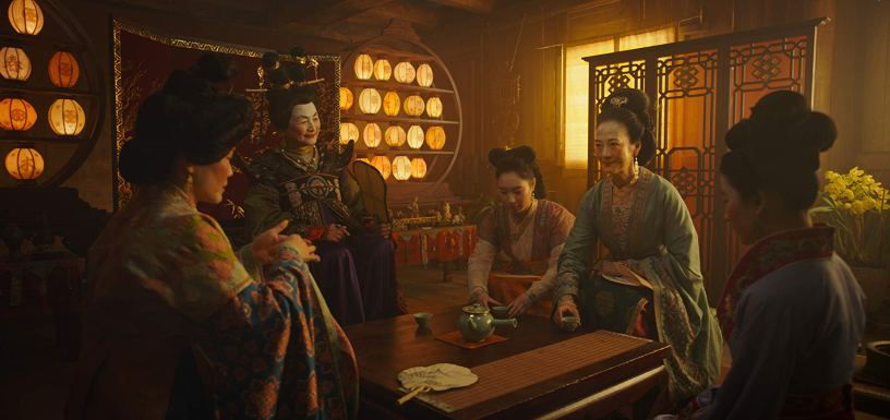 Pei-Pei Cheng, Yifei Liu, Rosalind Chao, and Xana Tang co-star in Disney's live action remake of MULAN (2020)