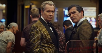 Gary Oldman and Antonio Banderas co-star in director Steven Soderbergh's comic thriller THE LAUNDROMAT (2019)