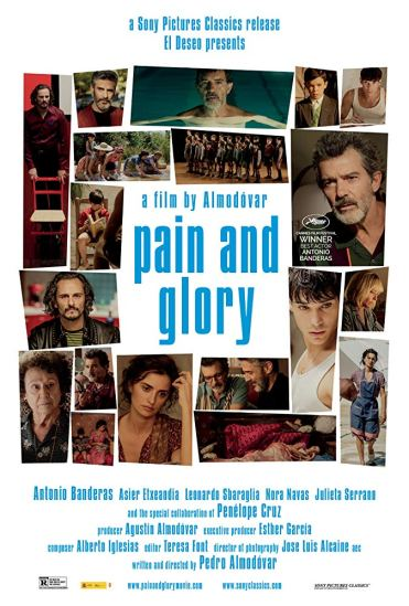 Poster for Pedro Almodóvar's PAIN AND GLORY (2019)
