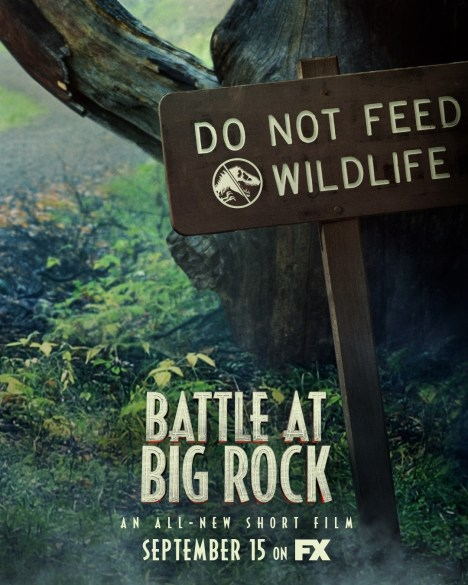 One Sheet poster for the Jurassic World short film BATTLE AT BIG ROCK (2019)