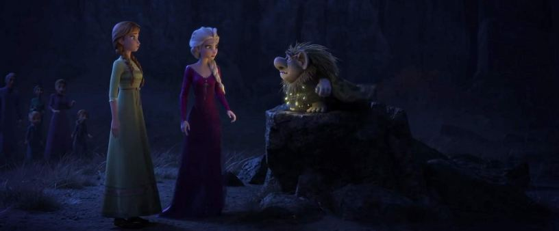 Kristen Bell (Anna), Idina Menzel (Elsa), and Ciarán Hinds (Pabbie the Troll) co-star in the Walt Disney Animation sequel FROZEN II (2019)