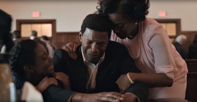 Jamie Foxx stars as the wrongly-convicted Walter McMillian in the true story courtroom drama JUST MERCY (2019)