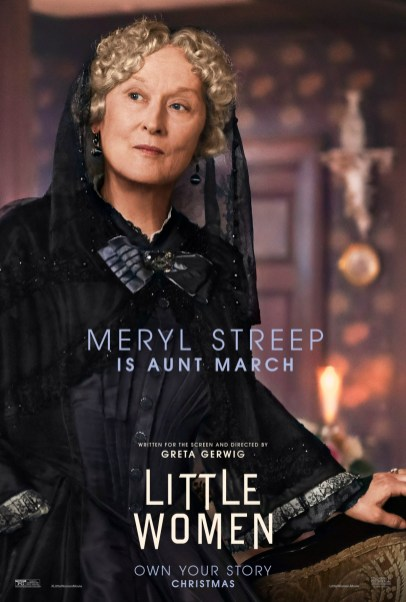 Meryl Streep co-stars as Aunt March in Greta Gerwig's adaptation of LITTLE WOMEN (2019)