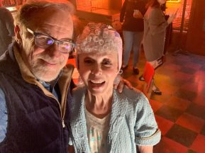 Steven Spielberg on-set with Rita Moreno (as Valentina, a reinterpretation of Doc, the owner of the drug store) on the set of WEST SIDE STORY (2020)