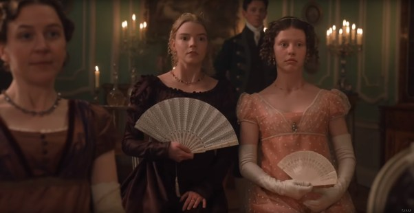 Anya Taylor-Joy (Emma) and Chloe Pirrie (Isabella) star in the adaptation of Jane Austen's EMMA (2019)