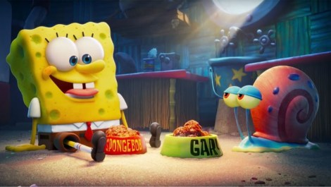 Tom Kenny stars as the voices of SpongeBob and Gary the Snail in THE SPONGEBOB MOVIE: SPONGE ON THE RUN (2020)