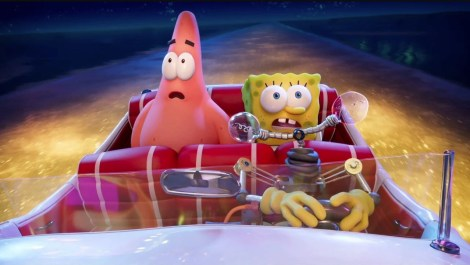 The voices of Clancy Brown (Mr. Krabs) and Tom Kenny (SpongeBob) star in THE SPONGEBOB MOVIE: SPONGE ON THE RUN (2020)