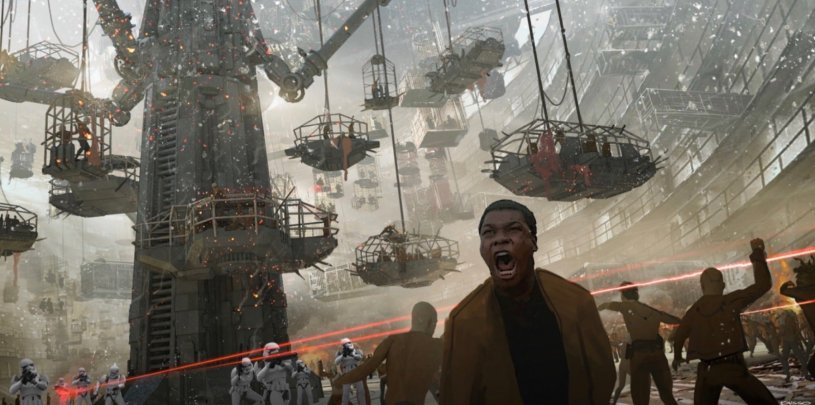 Finn leads the Resistance during the Battle on Coruscant in STAR WARS: DUEL OF THE FATES