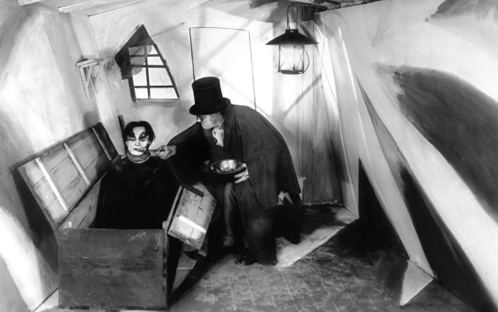 Conrad Veidt (Cesare) and Werner Krauss (Dr. Caligari) star in THE CABINET OF DR. CALIGARI (1920)