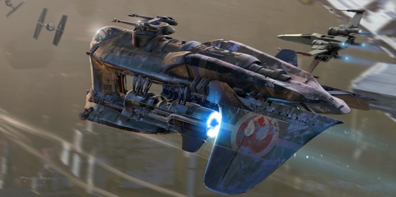 A new Resistance battleship on Coruscant in STAR WARS: DUEL OF THE FATES