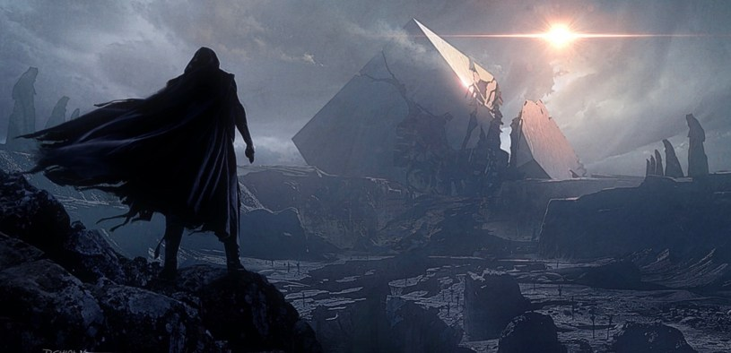 Kylo Ren approaches the Sith Temple on Remnicore in STAR WARS: DUEL OF THE FATES