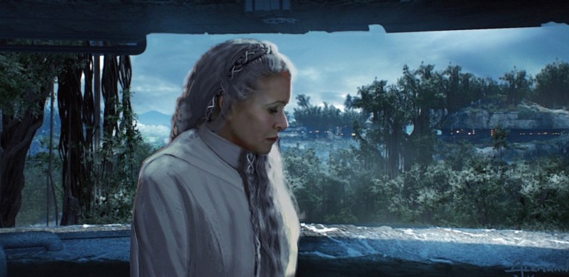 General Leia at the Resistance base on Korilev in STAR WARS: DUEL OF THE FATES